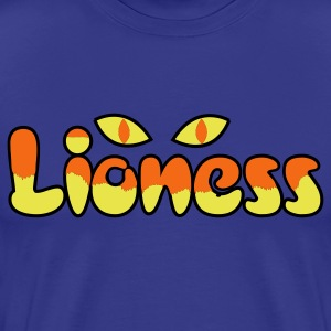 Royal blue lioness type awesome with big cats eyes T-Shirts - Men's Premium T-Shirt