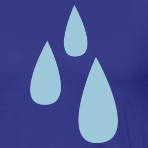Royal blue droplets dripping tears tear drop T-Shirts - Men's Premium T-Shirt