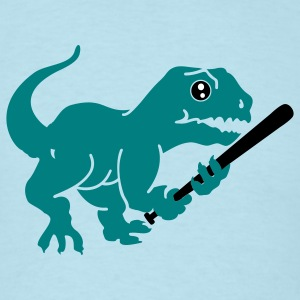 Sky blue baseball dino (3c) T-Shirts - Men's T-Shirt