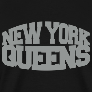 Black new york queens T-Shirts - Men's Premium T-Shirt