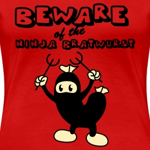 Red Ninja Bratwurst Plus Size - Women's Premium T-Shirt