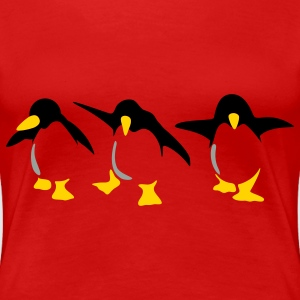 Red Penguins Plus Size - Women's Premium T-Shirt