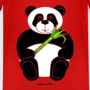 'Made in China' Boy Panda Toddler Tee Tee - Toddler Premium T-Shirt