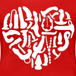 Red Sex Tools Heart Plus Size - Women's Premium T-Shirt