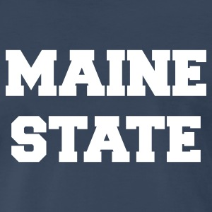 Navy maine state T-Shirts - Men's Premium T-Shirt