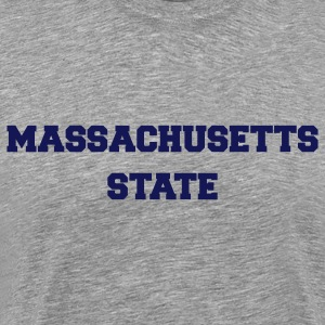 Heather grey massachusetts state T-Shirts - Men's Premium T-Shirt