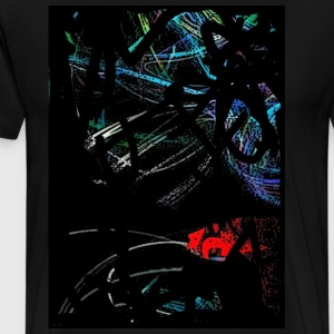 Graffiti Colored Light Tee - Men's Premium T-Shirt