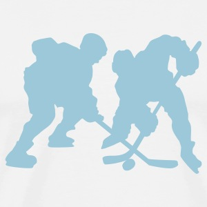 White icehockey T-Shirts - Men's Premium T-Shirt
