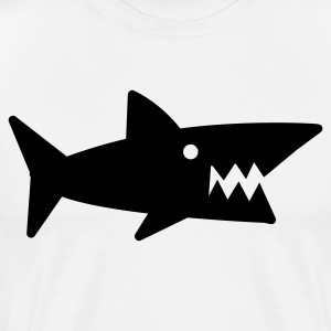 White sharp cool shark PREDATOR teeth T-Shirts - Men's Premium T-Shirt