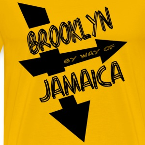 Gold Brooklyn By Way Of Jamaica 2010--DIGITAL DIRECT PRINT T-Shirts - Men's Premium T-Shirt