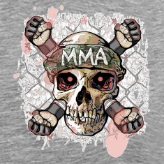 Ash Cage Fighter MMA Skull T-Shirts