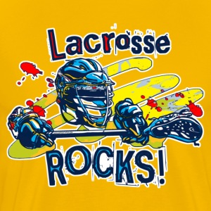 Lacrosse Rocks - Men's Premium T-Shirt