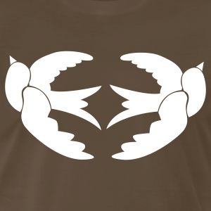 Chocolate TWO SWALLOWS TATTOO birds T-Shirts - Men's Premium T-Shirt