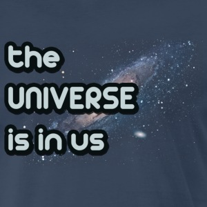 Navy The Universe Is In Us T-Shirts - Men's Premium T-Shirt