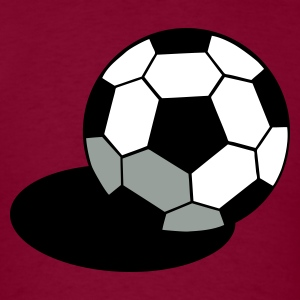 Burgundy SOCCER FOOTBALL BALL WITH A SHADOW T-Shirts - Men's T-Shirt