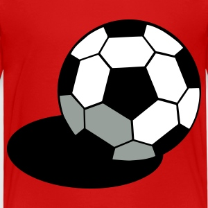 Red SOCCER FOOTBALL BALL WITH A SHADOW Toddler Shirts - Toddler Premium T-Shirt
