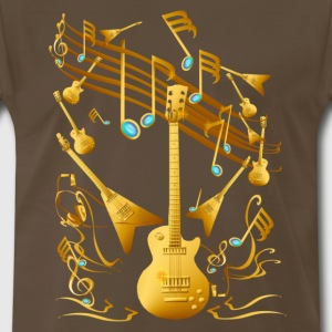 Gold Guitar Party - Men's Premium T-Shirt