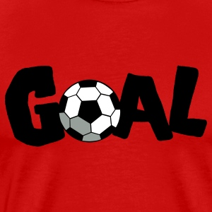 Red SOCCER GOAL FOOTBALL T-Shirts - Men's Premium T-Shirt