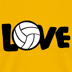Gold I LOVE VOLLEYBALL ball T-Shirts - Men's Premium T-Shirt