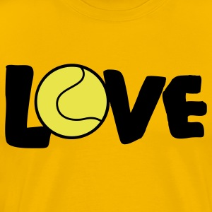 Gold I LOVE TENNIS T-Shirts - Men's Premium T-Shirt