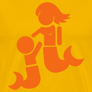 Gold Mermaid child and mother T-Shirts - Men's Premium T-Shirt