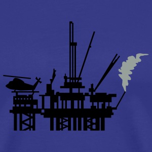Royal blue offshore oil rig (2c) T-Shirts - Men's Premium T-Shirt