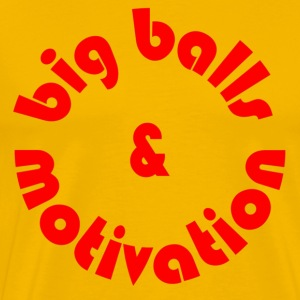 Yellow Big Balls T-Shirts - Men's Premium T-Shirt