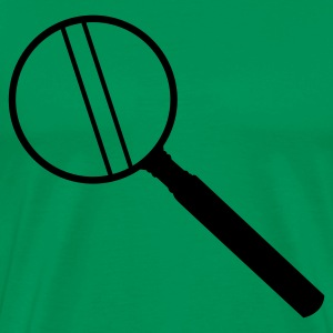 Kelly green MAGNIFYING GLASS magnify lens enlarged T-Shirts - Men's Premium T-Shirt