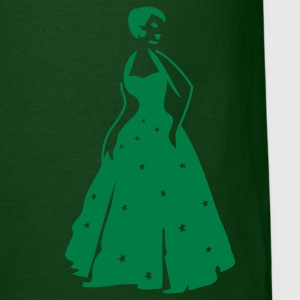 Forest green beautiful vintage dancing woman with pretty stars on her formal gown T-Shirts - Men's T-Shirt