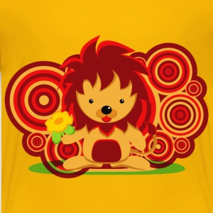 Flower and lion - Kids' Premium T-Shirt