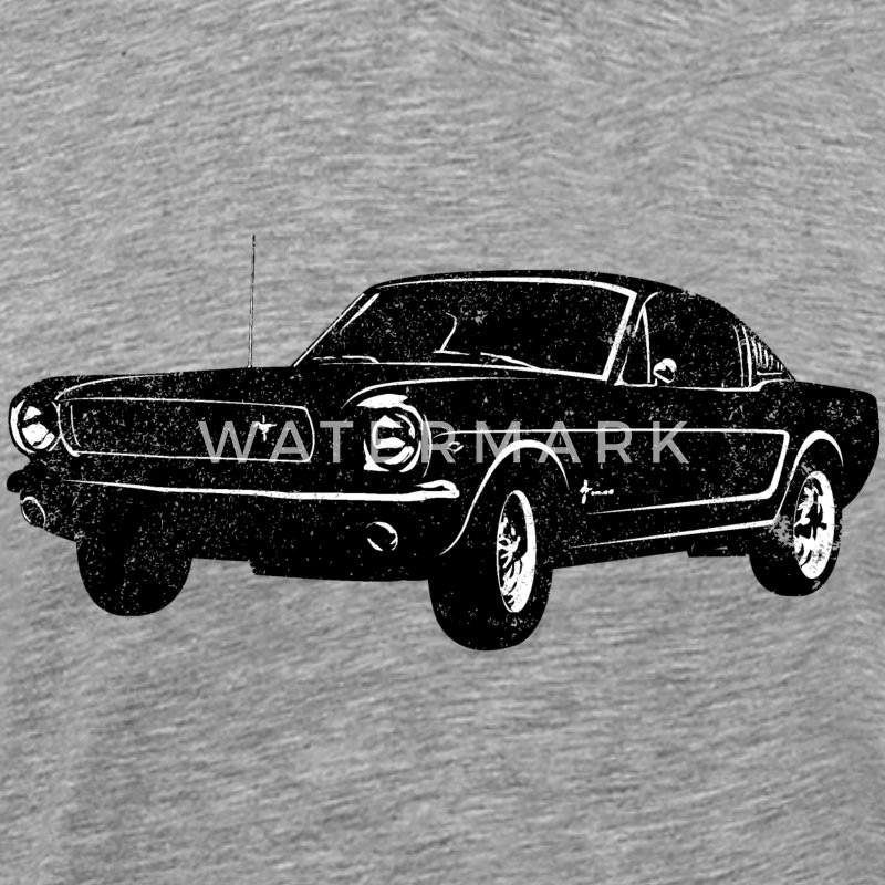 Ladies Size Ford Mustang Design T Shirt Tee Shirt Pony Tri: 1964 Ford Mustang Fastback T-Shirt