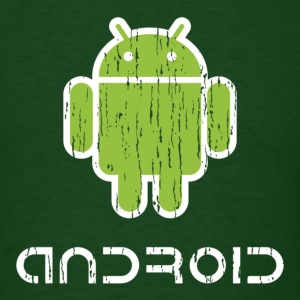 Distressed Android Logo - Men's T-Shirt