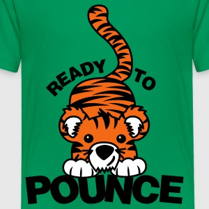 Kelly green Ready to Pounce Kids' Shirts - Kids' Premium T-Shirt