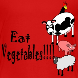 Red Eat Vegetables Toddler Shirts - Toddler Premium T-Shirt