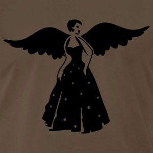 Chocolate beautiful vintage pretty dancing woman with wings ballroom dancer T-Shirts - Men's Premium T-Shirt