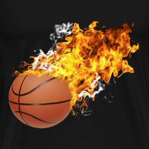 Flaming Basketball T-Shirts - Men's Premium T-Shirt