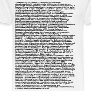 List of forbidden drugs and substances (Controlled Substances Act) - Men's Premium T-Shirt