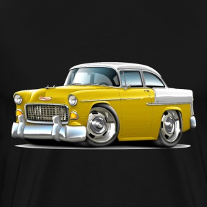 1955 Chevy Belair Yellow Car - Men's Premium T-Shirt