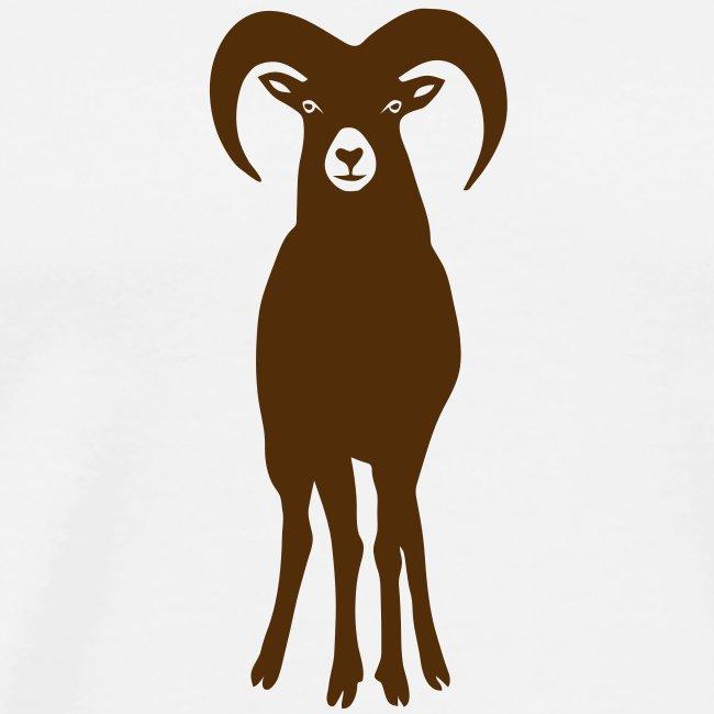 t-shirt sheep goat mountain ram horn horns aries jumbock bighorn buck billy goat animal