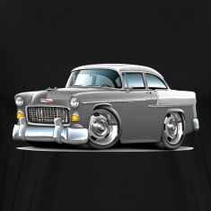 1955 Chevy Belair Grey Car