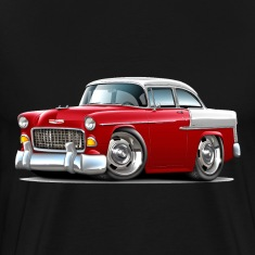 1955 Chevy Belair Red Car