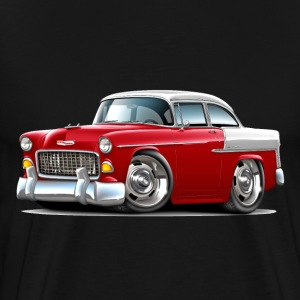 1955 Chevy Belair Red Car - Men's Premium T-Shirt