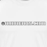 Design ~ Nubreaks.com White w/ Black Trim Front/Back Mens Heavyweight Tee