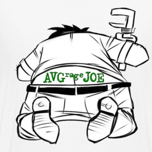 AVERAGE JOE - JOE THE PLUMBER  LOGO - BACK  - Men's Premium T-Shirt