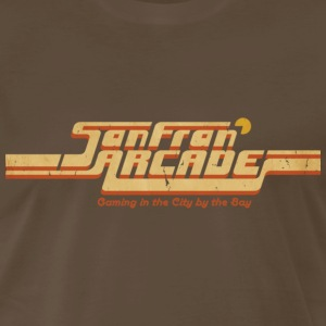 Brown SanFran Arcade (for dark shirts) T-Shirts - Men's Premium T-Shirt