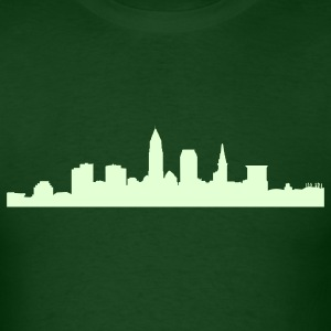 Forest green cleveland_skyline T-Shirts - Men's T-Shirt