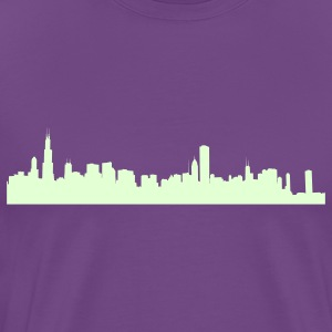 Purple chicago_skyline T-Shirts - Men's Premium T-Shirt