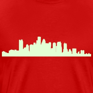 Red boston_skyline T-Shirts - Men's Premium T-Shirt