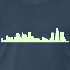 Navy detroit_skyline T-Shirts - Men's Premium T-Shirt