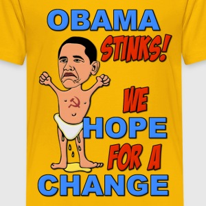 Obama Stinks!  We Hope for a Change Kids' Shirts - Kids' Premium T-Shirt